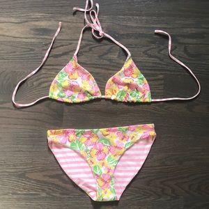 Lilly Pulitzer two piece reversible bikini size 8
